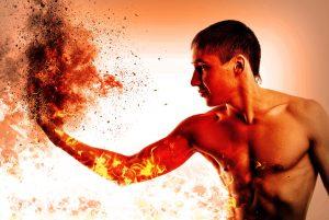 Metafora dell'eccesso di fuoco ed energia maschile