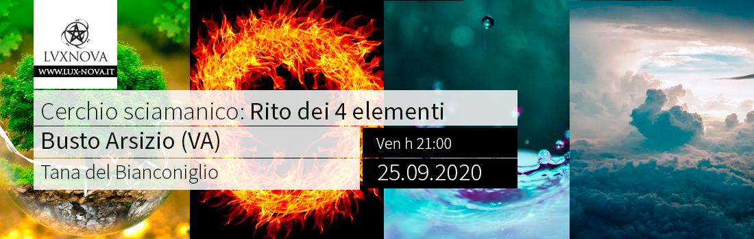 Cerchio sciamanico: Rito dei 4 elementi - Busto Arsizio - 25.09.2020
