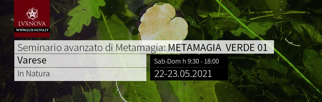 Seminario Avanzato di Metamagia Verde Varese 22 05 2021