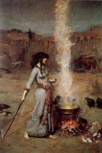 Magic Circle opera di John William Waterhouse del 1886 - Fonte Wikipedia