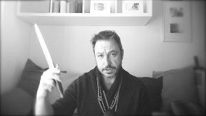 Pugnale o athame e i quattro strumenti dell'arte connessi a quattro elementi